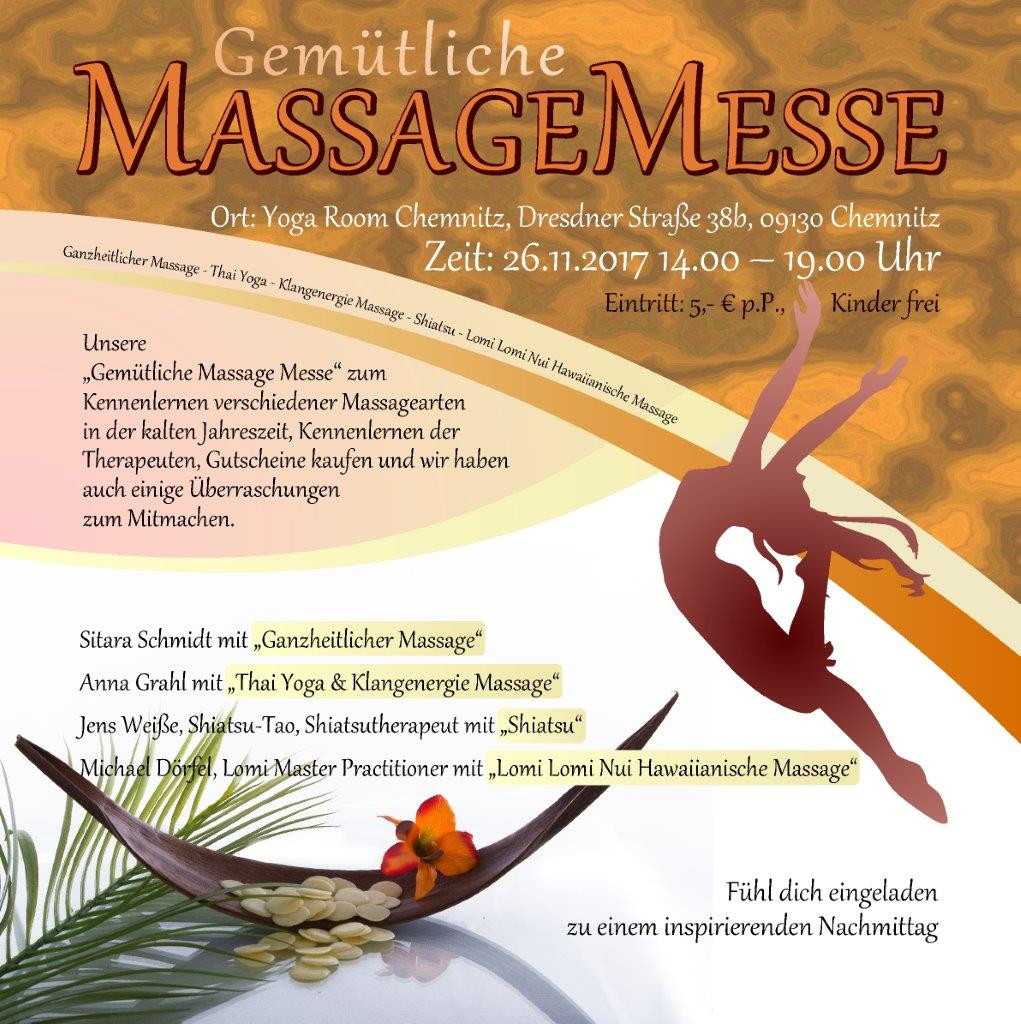 Messe Chemnitz 2017 Massagemesse